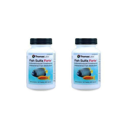 Fish Sulfa Forte - Sulfamethoxazole 800 mg, Trimethoprim 160 mg Tablets (100 Count) - 2 Pack (OUT OF STOCK)