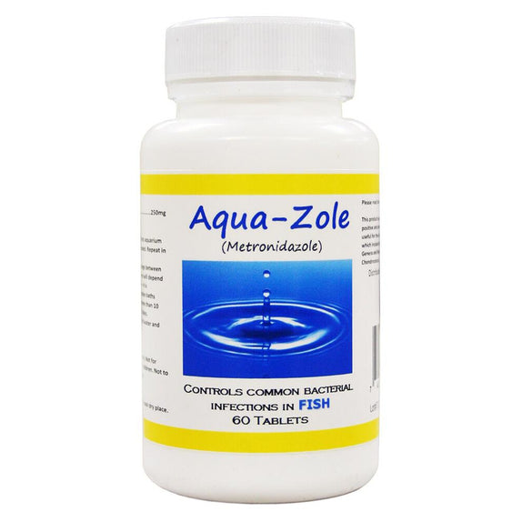 (Fish Zole Equivalent) Aqua Metronidazole - 250 mg - 60 Count