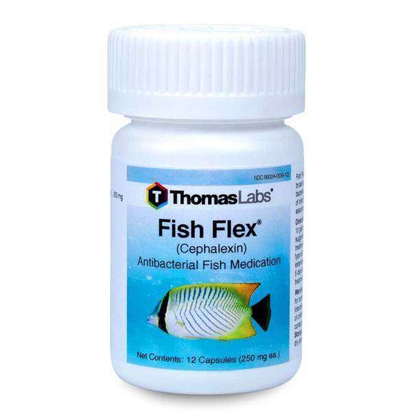 Fish Flex - Cephalexin/Keflex 250 mg Capsules (12 Count) (OUT OF STOCK)