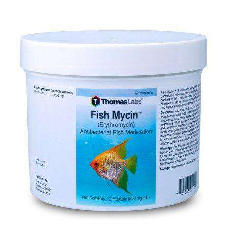 Fish Mycin - Erythromycin 250 mg Powder Packets (12 Count)