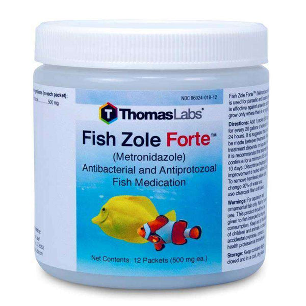 Fish Zole Forte - Metronidazole 500 mg Powder Packets (12 Count)