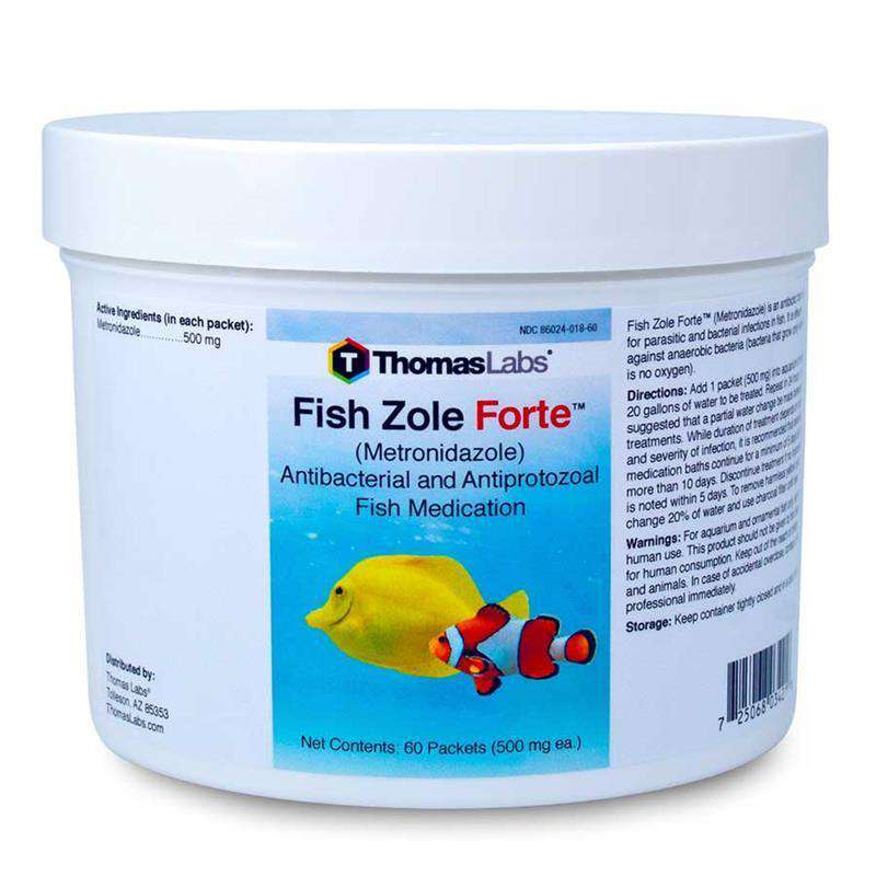 Fish Zole Forte - Metronidazole 500 mg Powder Packets (60 Count)