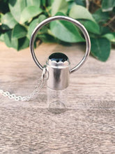 Load image into Gallery viewer, Horizon - Black Onyx and Sterling Silver Rollerball Necklace