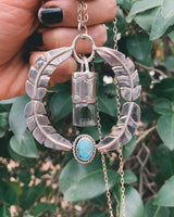 Leafy Oleum - Candelaria Turquoise and Sterling Silver Rollerball Necklace