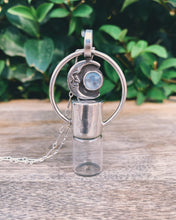 Load image into Gallery viewer, Moonstone and Sterling Silver Horizon Rollerball Necklace