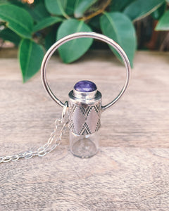 Horizon - Charoite and Sterling Silver Rollerball Necklace