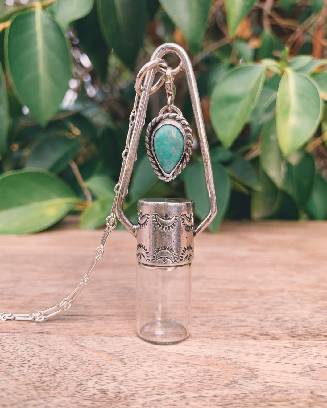 Sterling Silver Charm - Candelaria Turquoise Rollerball Necklace