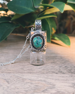 Sterling Silver Mini Bail - Candelaria Turquoise Rollerball Necklace