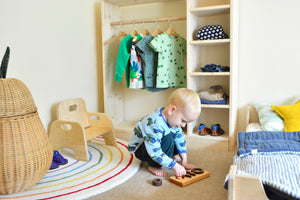 Montessori Self Dressing Area - How Many Clothes Should I Have Out?