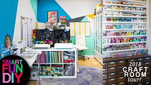 Come on over and check out my 2018 Craft Room Tour and office tour!! How I organize my craft supplies ..