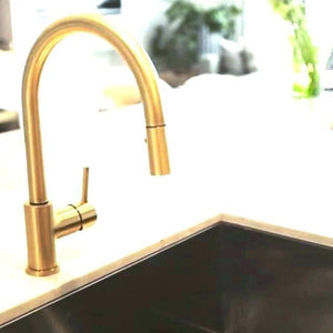 Lovely Gold Pull Down Kitchen Faucet