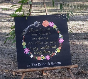 Sympathetic Unplugged Wedding Sign