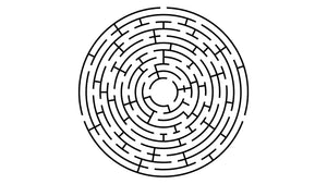 This maze has three solutions