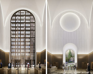 New lobby renderings revealed for Phillip Johnson's 550 Madison Avenue