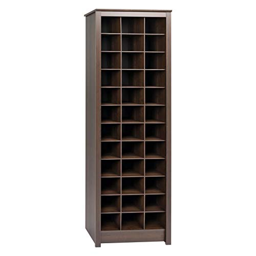Moon Daughter 36 Cubby Pairs Shoe Display Storage Cabinet Shelf Space Holder Home Espresso Large