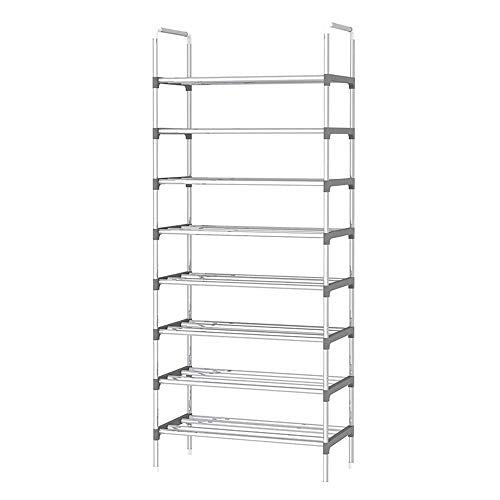 9 Tier Simple Assembled Shoe Rack Iron Shoes Shelf Hallway Standing Furniture Saving Space Shoe Organizer
