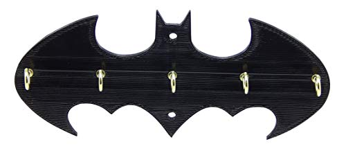 Medallurgy Retro Batman Key Rack Holder Hanger Hook Dark Knight Entryway Organization Decor Wall Key Hooks Jewelry Organizer