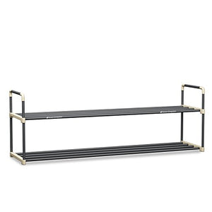 Shoe Rack with 2 Shelves-Two Tiers for 12 Pairs-For Bedroom, Entryway, Hallway, and Closet- Space Saving Storage and Organization by Home-Complete