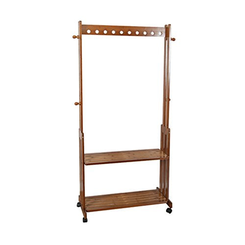 ZUOANCHEN Floor Stand Hanging Rack European Solid Wood Coat Rack Hall Stand Landing Hanger Shoe Rack Changing His Shoes Stool Combination Shelf Bedroom