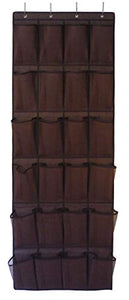 Roomganize Large Over the Door Shoe Organizer for Mens Sneakers (Bison brown)