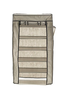Fabric 6 Tier Shoe Rack Steel and Durable Plastic w/ Dust Cover