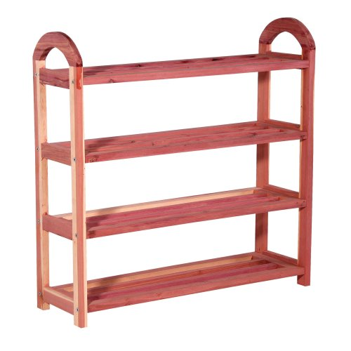 CedarFresh 4-Tier Cedar Shoe Rack, 26.75