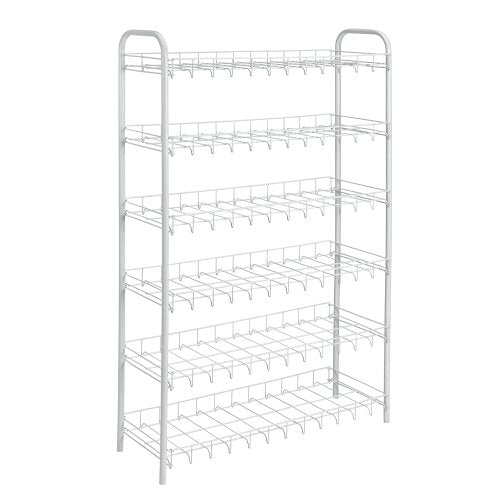 Metaltex USA Inc. Shoe Rack, White, 18-Pair
