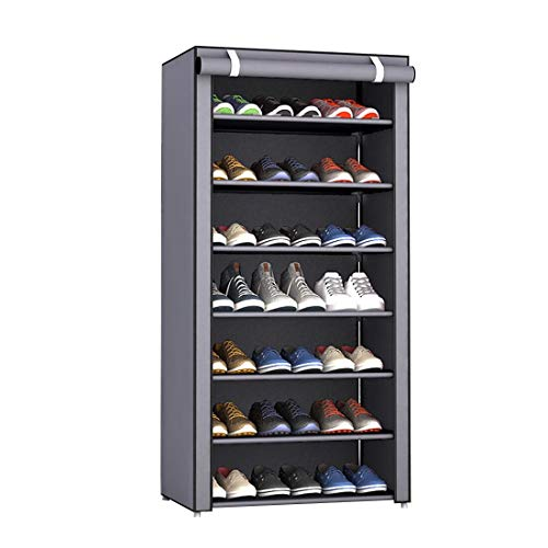 Aggice 8 Tiers Shoe Rack with dustproof Cover Dormitory Simple Collect Rac,Collect Colthes,Shoes, Books, Sundries (8 Tiers)
