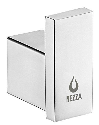 Nezza NBA-125-002-SS Contemporary Wall Mounted Bathroom Stainless Steel Robe Hook, Chrome