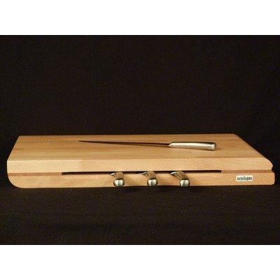 Select nice artelegno dual sided solid beech wood cutting board with integrated magnetic knife storage luxurious italian torino collection by master craftsmen ecofriendly natural finish extra large