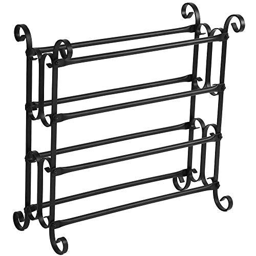 Cocoarm 4-Tier Shoe Rack Iron Shoe Tower Storage Organizer Unit Holder Vintage Style Sturdy Stand for Home Hotel Entryway Metal Shelf