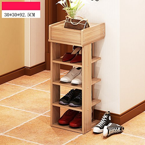 AIDELAI Shoe Racks Shoe Rack Natural Wooden Simple Shoe Rack Storage Organizer Holder Multilayer Multifunctional Storage Shelf (Color : A)