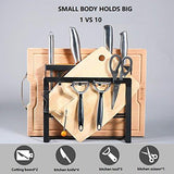 HOLYMOOD Kitchen Houseware Organizer Knife Block Storage Drying Rack Cutting Board Stand Tools Holder Only