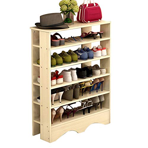 Polar Aurora Shoe Racks 5 Tiers Multi-Function Economy Storage Rack Standing Shelf Organizer (Grain)
