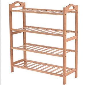 USA Premium Store 4 Tier Bamboo Shoe Rack Entryway Shoe Shelf Holder Storage Organizer Furniture