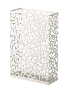 Nest - White Metal Rectangular Umbrella Stand