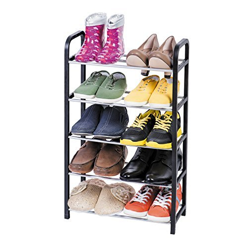 ArtMoon Labrador Shoe Rack 5 Tier Steel/Plastic 16,5