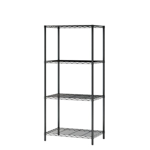 "Homebi 4-Tier Wire Shelving 4 Shelves Unit Metal Storage Rack Durable Organizer Perfect for Pantry Closet Kitchen Laundry Organization in Black,21""Wx14""Dx46.5""H"