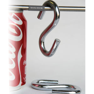 "4 Pack 3.5"" Inches S Shape Durable Heavy Duty Utility Hooks , Chrome Finish"