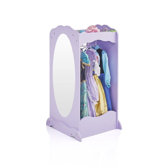 The best guidecraft dress up cubby center lavender kids clothing storage rack costume shoes wardrobe with mirror and side hooks standing closet for toddlers
