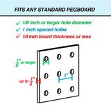 Amazon pegboard bins 12 pack black hooks to any peg board organize hardware accessories attachments workbench garage storage craft room tool shed hobby supplies small parts