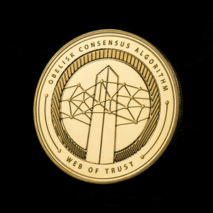 Skyfleet Marshal - Fifty 18K Gold Plated Skycoin Collectable Coins - Skycoin Collectable Coins