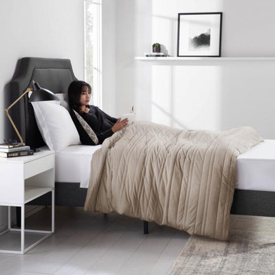 Driftwood blanket promoting deeper sleep