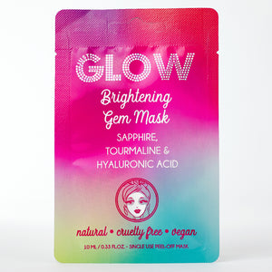 Just Glow, Brightening Gem Mask, Sapphire, Tourmaline, Hyaluronic Acid, Peel-Off Mask