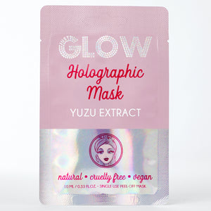 Just Glow, Holographic Mask, Yuzu Extract, Peel-Off Mask