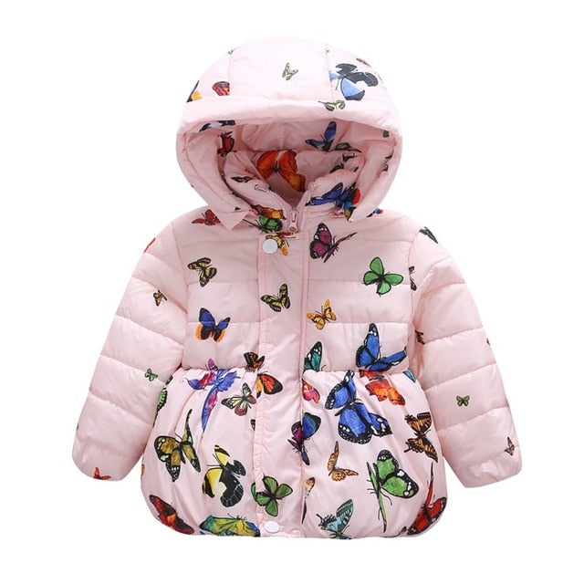 Baby Girls Butterfly Pattern  Warm Abrigo