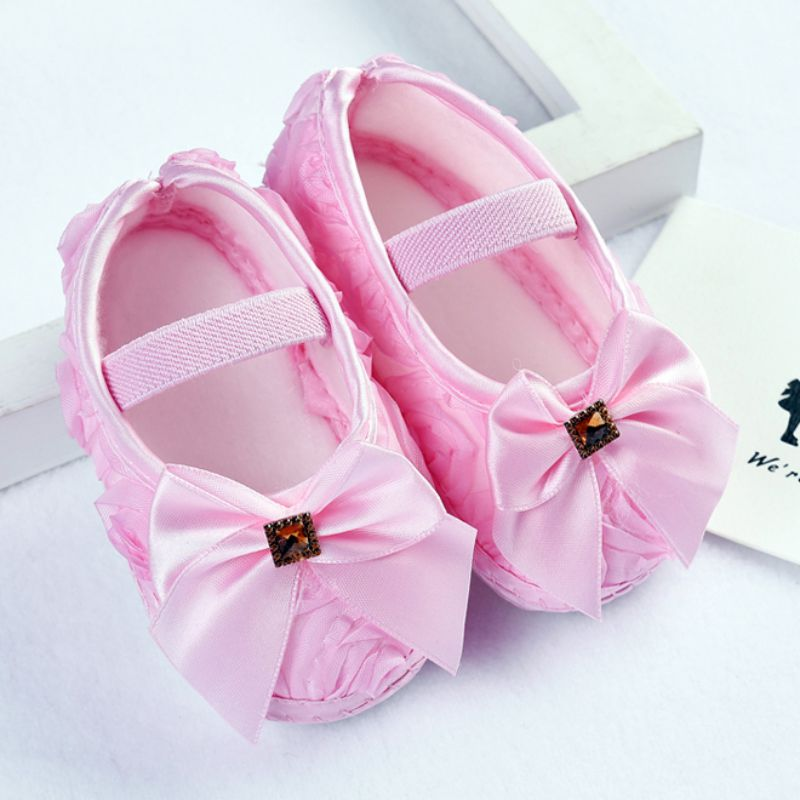 Baby Girl First Walkers Bow Princess Shoes
