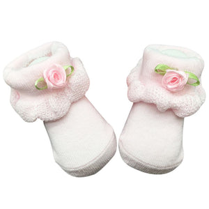 Baby Girl Cotton Flower Lace Ankle Socks