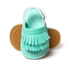 Baby Girl PU Sandals Tassel Shoes