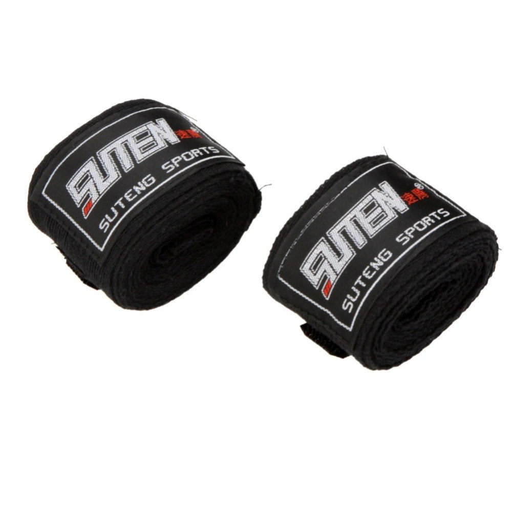 2pcs/lot Newest 100% Cotton Sports Boxing Gloves Strap Muay Thai  Taekwondo Boxing Bandage Hand Gloves High Quality